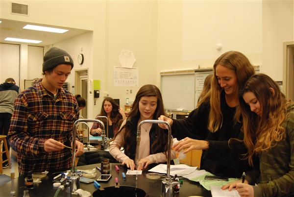 Students in science